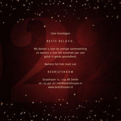 Zakelijke kerstkaart 22 met handgeschreven feestdagen 3