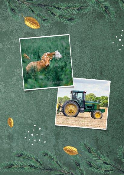 Zakelijke kerstkaart agrarisch groen goud ster foto 2