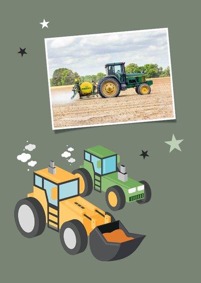 Zakelijke kerstkaart agrarisch tractor graafmachine 2