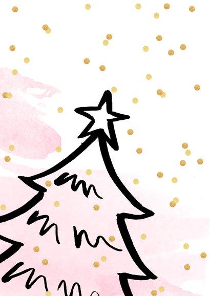 Zakelijke kerstkaart aquarel confetti kerstboom 2