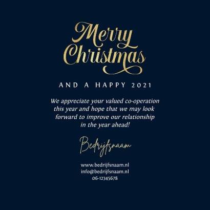 Zakelijke kerstkaart art deco patroon goud merry christmas  3