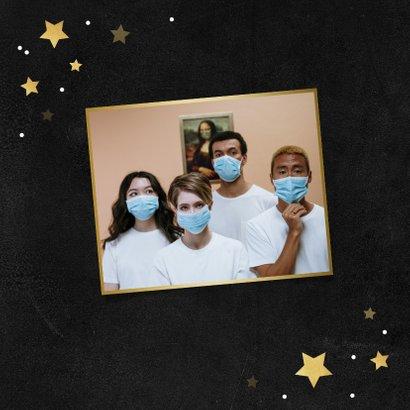 Zakelijke kerstkaart bedankt goud krijt sterren medewerker 2