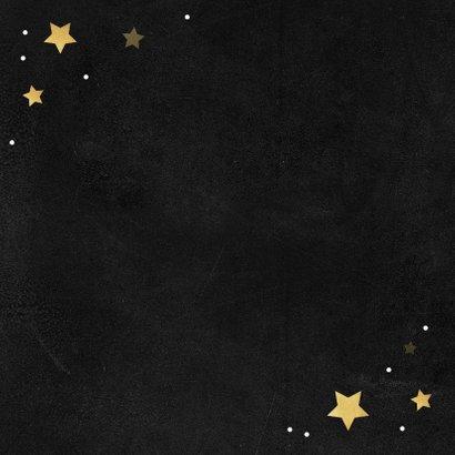 Zakelijke kerstkaart bedankt goud krijt sterren medewerker Achterkant