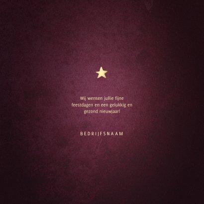 Zakelijke kerstkaart best wishes bordeaux met goudlook kader 3