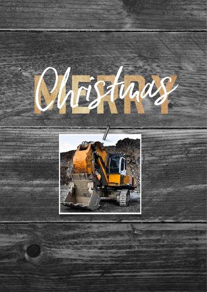 Zakelijke kerstkaart bouw hout stoer fotocollage 2