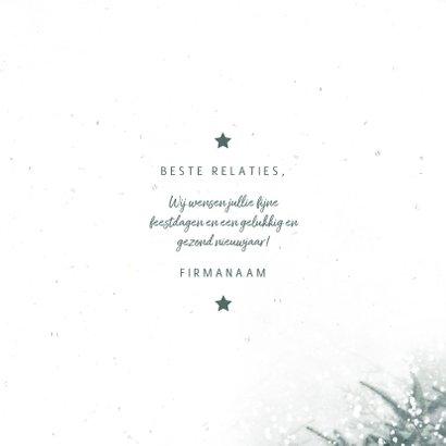Zakelijke kerstkaart christmas met kerstbomen en sneeuw 3