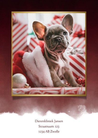 Zakelijke kerstkaart dieren branche foto, waterverf & pootje 2