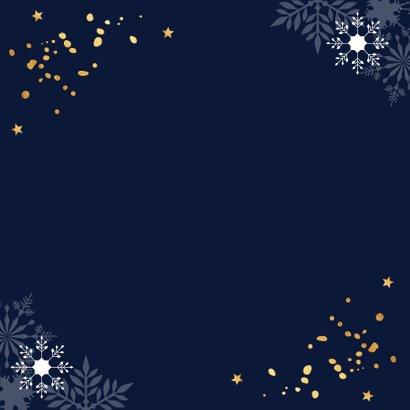 Zakelijke kerstkaart donkerblauw 2021 goudlook confetti 2