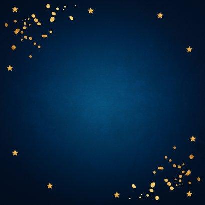 Zakelijke kerstkaart donkerblauw typografie goudlook 2