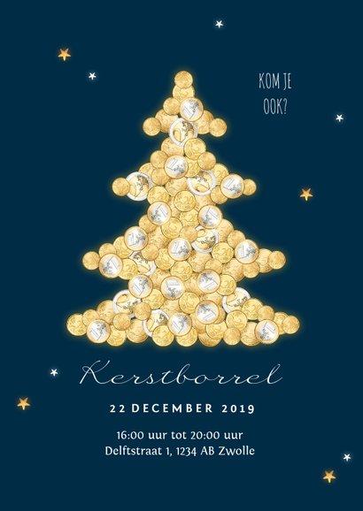 Zakelijke kerstkaart financieel geld kerstboom goud sterren 2