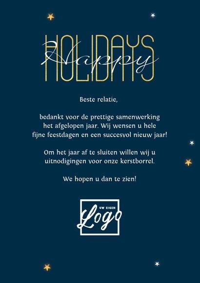 Zakelijke kerstkaart financieel geld kerstboom goud sterren 3