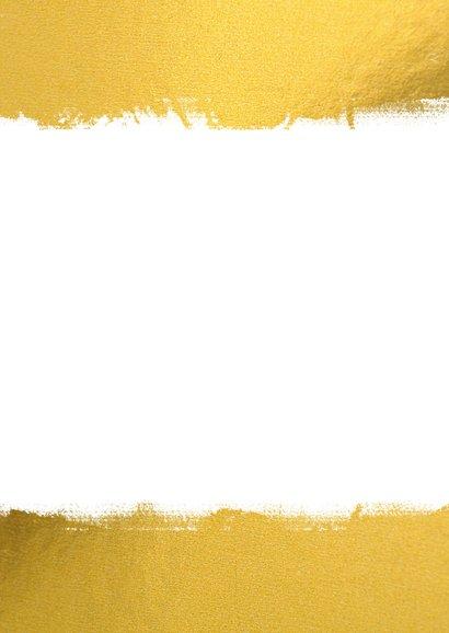 Zakelijke kerstkaart financiële branche goud kader & foto's Achterkant
