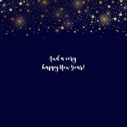 Zakelijke kerstkaart foto sterren goud glitterlook  2
