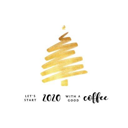 Zakelijke kerstkaart fotocollage goud kerstboom horeca 2