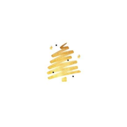 Zakelijke kerstkaart fotocollage goud kerstboom horeca Achterkant