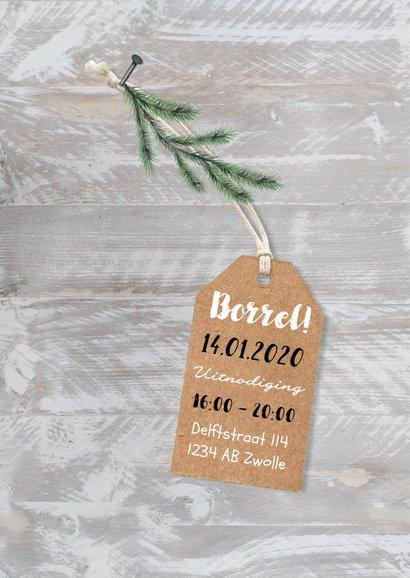 Zakelijke kerstkaart fotocollage hout label sterren 2