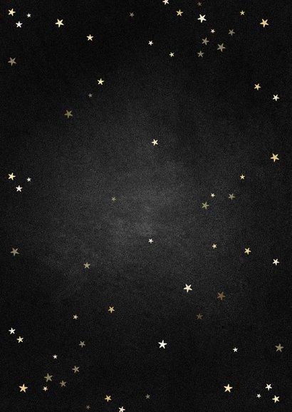 Zakelijke kerstkaart fotocollage met gouden 2021 en sterren Achterkant