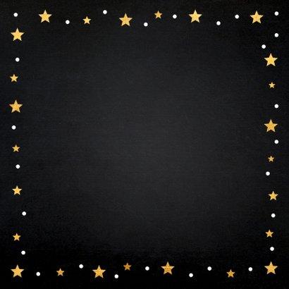 Zakelijke kerstkaart fotocollage zwart goudlook sterren 2