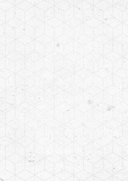 Zakelijke kerstkaart geometrisch beton 2021 fotocollage Achterkant