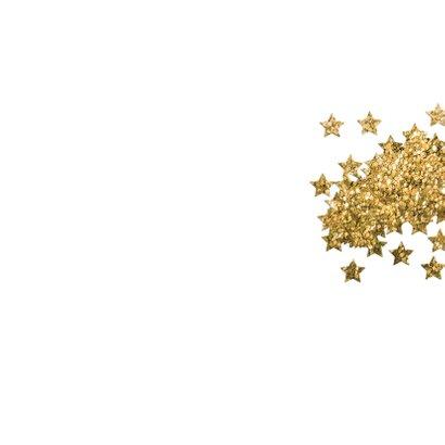 Zakelijke Kerstkaart - glitter boom Achterkant
