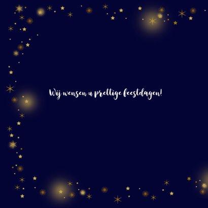 Zakelijke kerstkaart glitter sterren goud 2