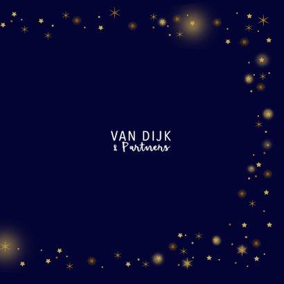 Zakelijke kerstkaart glitter sterren goud 3
