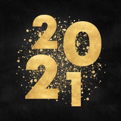 Zakelijke kerstkaart gouden 2021 merry christmas 2