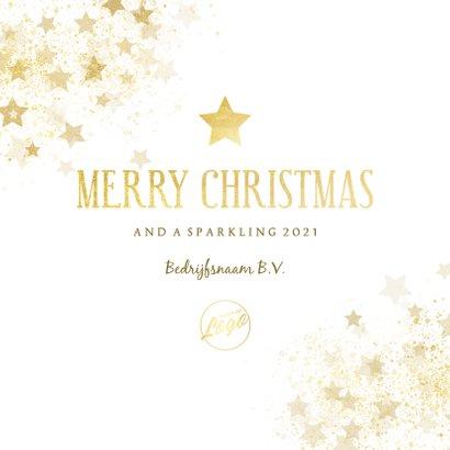 Zakelijke kerstkaart gouden ster stijlvol Merry Christmas 3