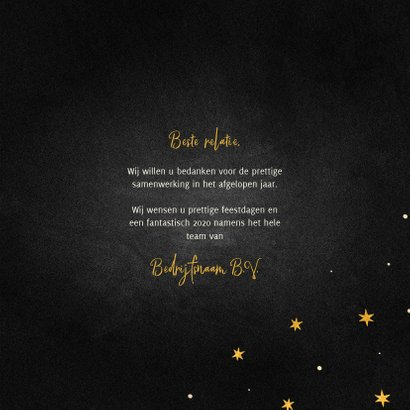 Zakelijke kerstkaart goudlook ster internationaal 3
