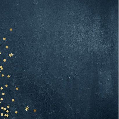 Zakelijke kerstkaart grof blauw met goud 2