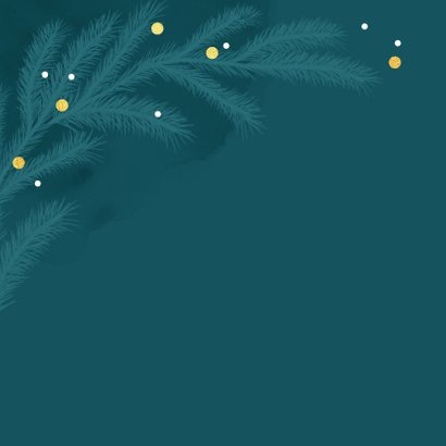 Zakelijke kerstkaart happy holidays goud takjes foto 2