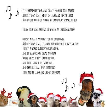 Zakelijke kerstkaart 'heal the world' diverse dieren 2