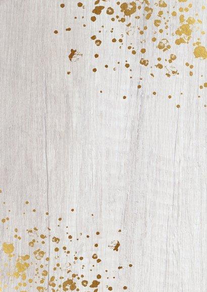 Zakelijke kerstkaart horeca branch foto's, hout en spetters Achterkant
