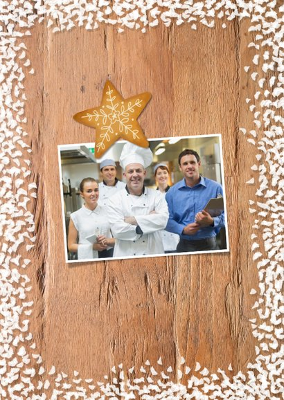 Zakelijke kerstkaart horeca industrieel koekjes sneeuw 2