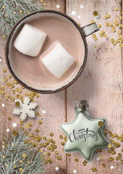 Zakelijke Kerstkaart - hout en kerstster 2