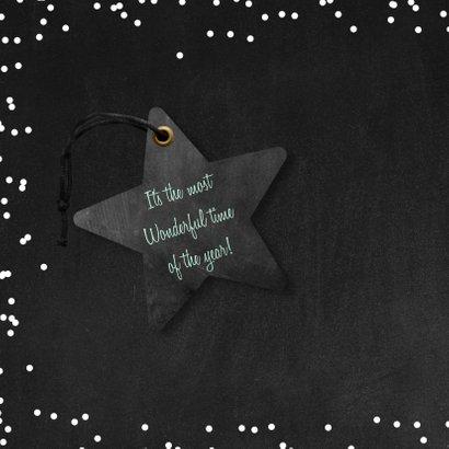 Zakelijke kerstkaart hout groen 2021 ster label 2