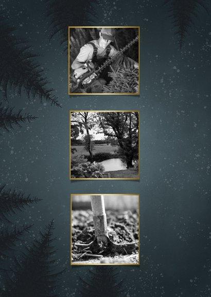 Zakelijke kerstkaart hovenier branche bomen, foto en sterren 2