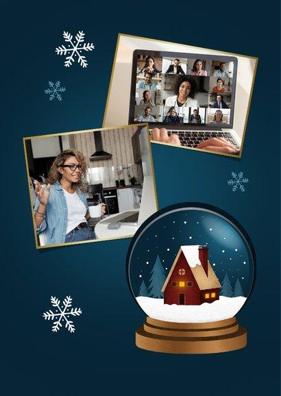Zakelijke kerstkaart huis thuiswerken bedankt medewerkers 2