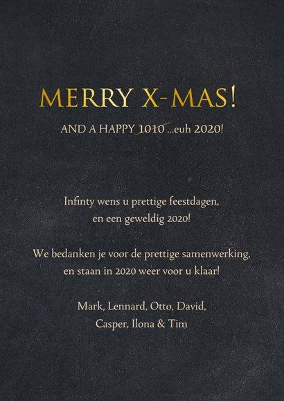 Zakelijke kerstkaart ICT branche - binaire kerstboom 3