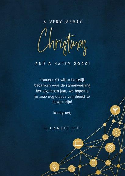 Zakelijke kerstkaart ICT met iconen, foto's en typografie 3
