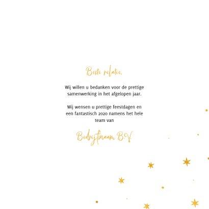 Zakelijke kerstkaart internationaal goudlook ster 3