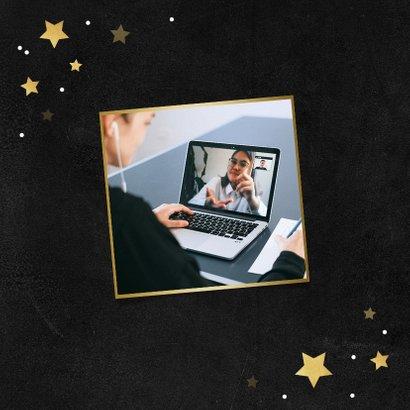 Zakelijke kerstkaart jij bent goud waard sterren medewerker 2