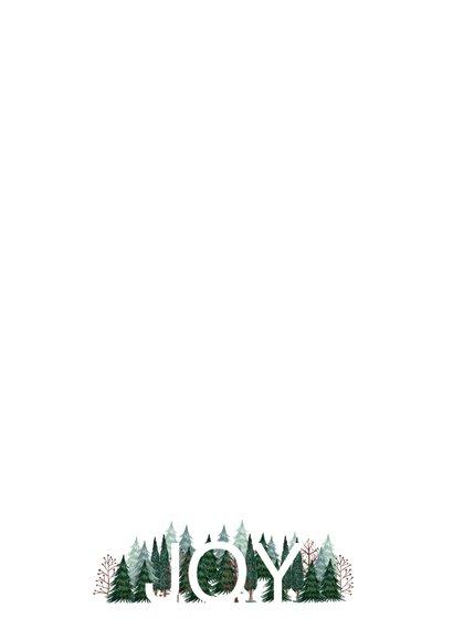 Zakelijke kerstkaart kerstbomen hip Achterkant