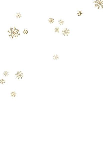 Zakelijke kerstkaart label sneeuw 2