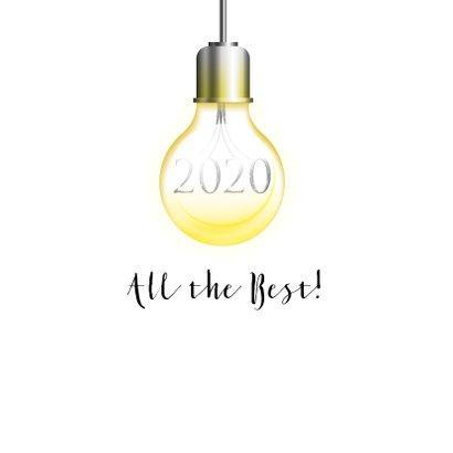 Zakelijke kerstkaart lichtpeertjes 2020 2