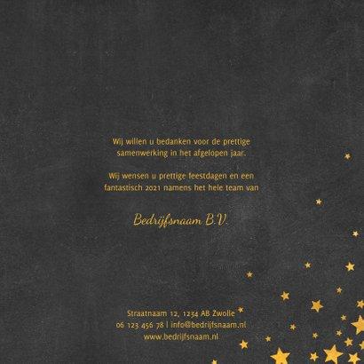 Zakelijke kerstkaart meertalig met logo en sterren  3