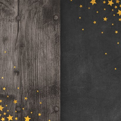 Zakelijke kerstkaart meertalig met logo en sterren  Achterkant