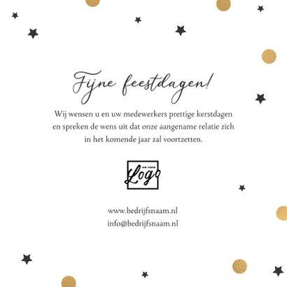 Zakelijke kerstkaart merry christmas goud confetti sterren 3