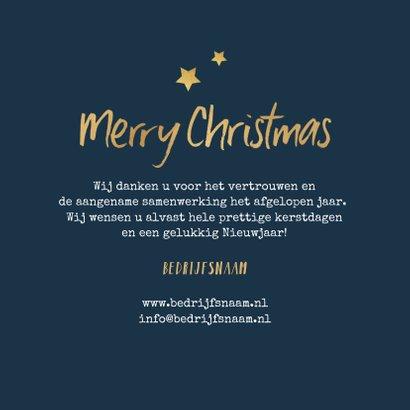 Zakelijke kerstkaart merry christmas goud typografisch foto 3