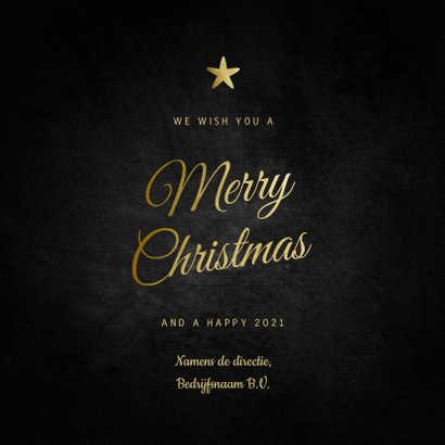 Zakelijke kerstkaart Merry Christmas klassiek met sterren 3